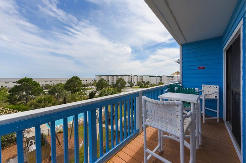 Relax on your balcony and watch the kids swim at Beachfront II in Seagrove Beach Florida