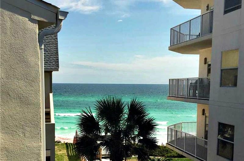 View of the beach at Beachside Condos in Seagrove Beach FL