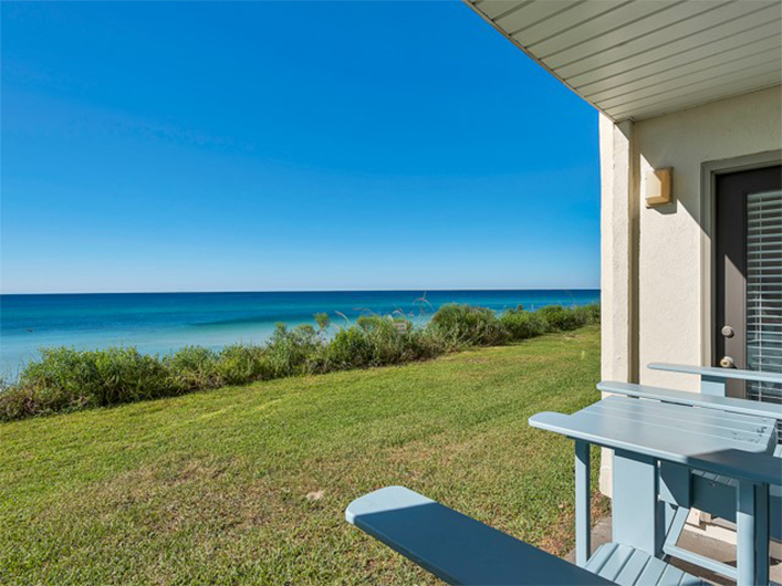 Lovely view of the grounds and Gulf at Beachside Condominiums in Seagrove Beach Florida