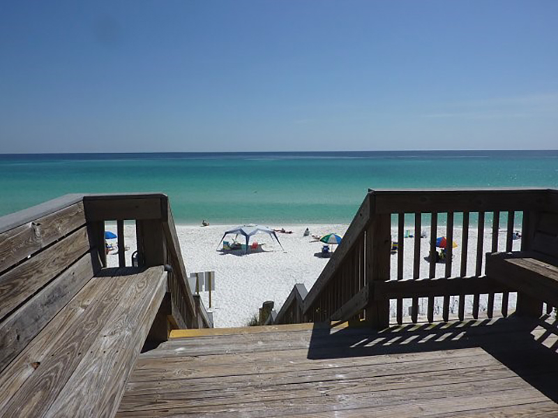 Easy access to the sand and water at Beachside Condominiums in Seagrove Beach Florida