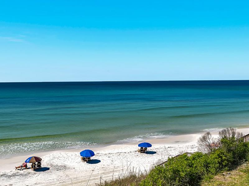 Crystal blue water awaits you at Beachside Condominiums in Seagrove Beach Florida