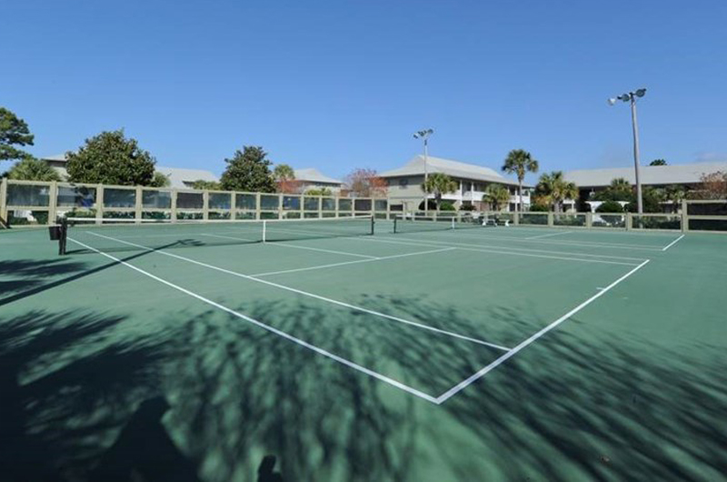 Gets your exercise with a round of tennis at Beachwood Villas in Seagrove Beach FL