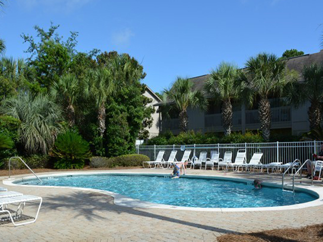 Lovely pool area at Cassine Station Seagrove Beach FL