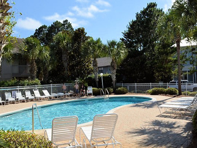 Large pool to enjoy at Cassine Station Seagrove Beach FL