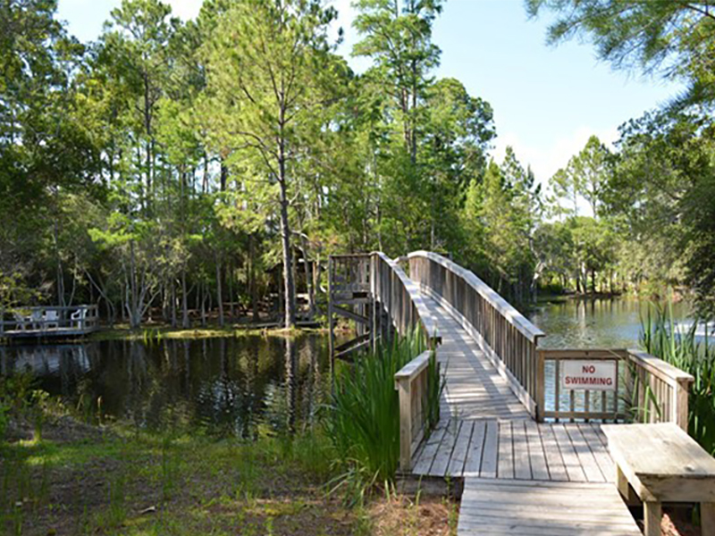 Take a stroll across the lake at Cassine Station in Seagrove Beach FL