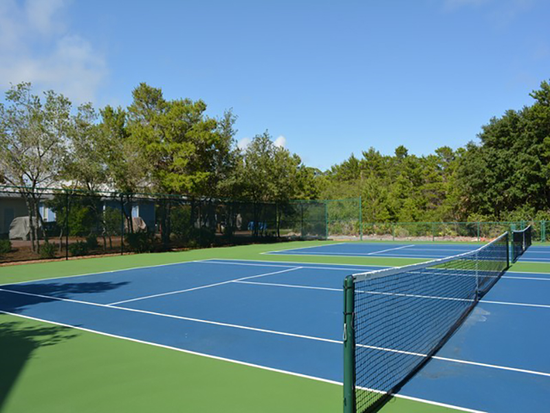 Kids and adults alike will enjoy the tennis courts at Cassine Station in Seagrove Beach FL