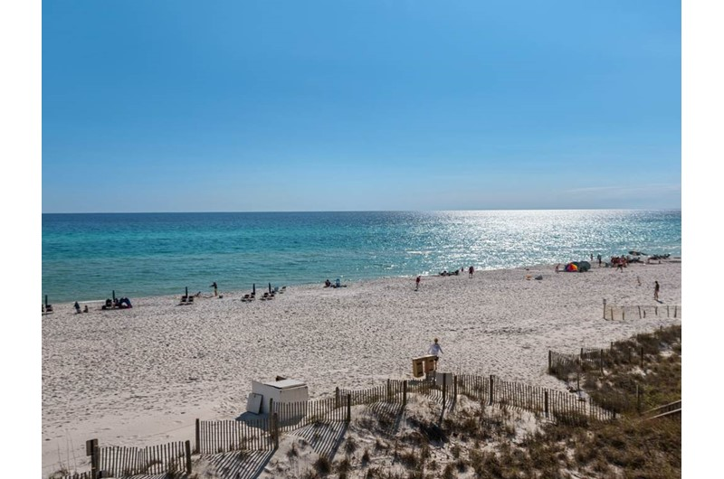 Gorgeous sand and Gulf in front of Eastern Shores Condominiums in Highway 30-A Florida