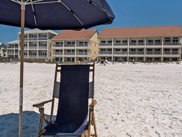 The beach is steps from Eastern Shores Condominiums in Highway 30-A Florida