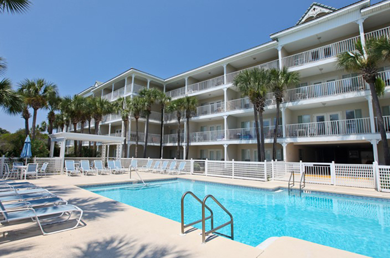 Huge pool to enjoy at Gulf Place Cabanas in Santa Rosa Beach FL