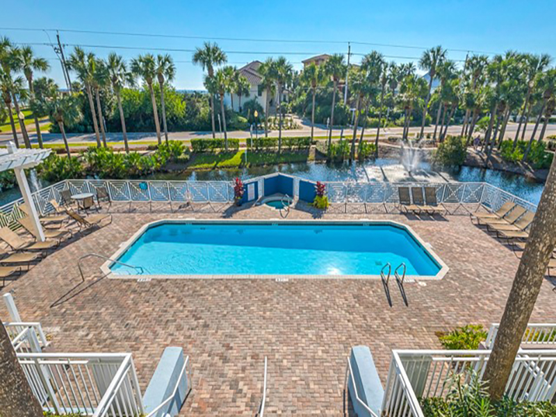 Pool and grounds at Gulf Place Cabanas in Santa Rosa Beach FL