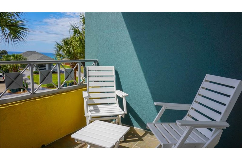 Relax on the balcony at Inn at Gulf Place  in Highway 30-A Florida
