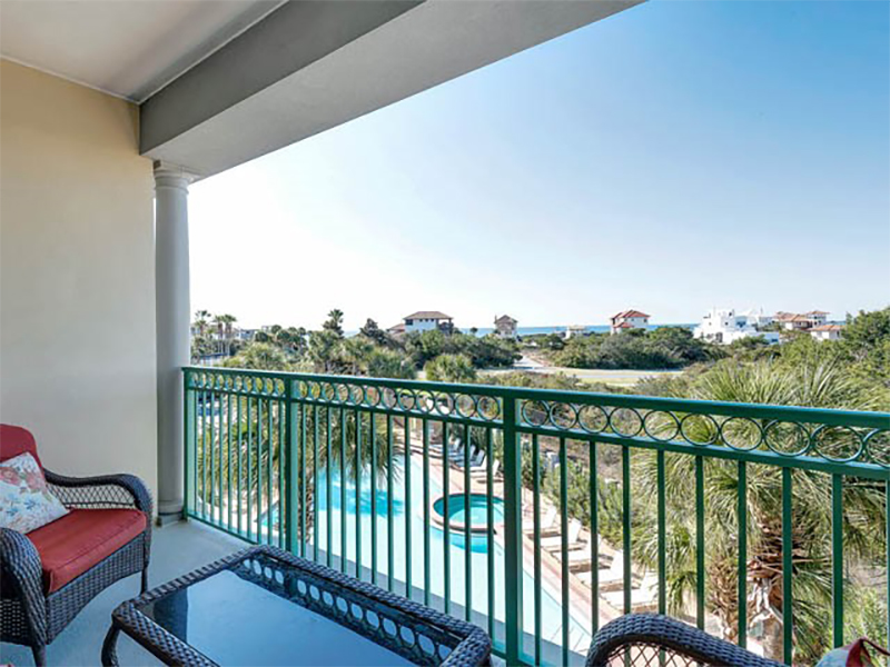 Spend the late afternoon on your balcony at Inn at Seacrest Beach Highway 30-A Florida