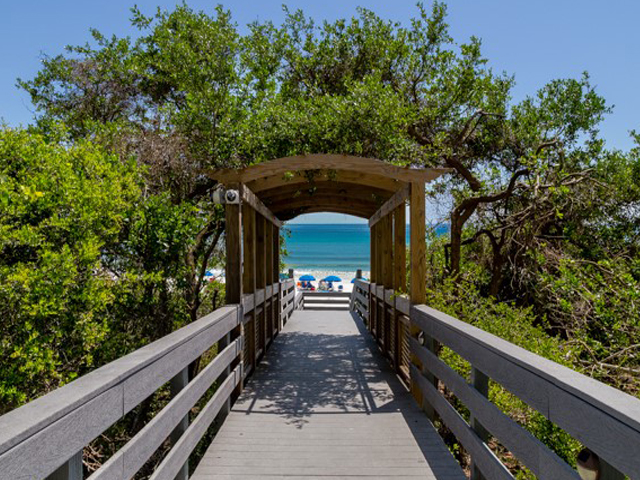 Take a gorgeous walk to the beach from One Seagrove Place Highway 30a Florida