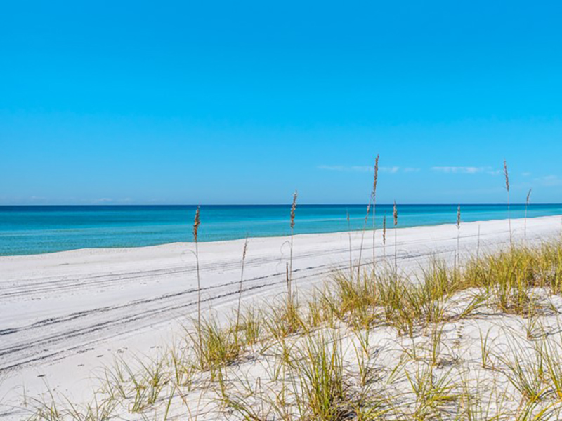 Sugar White sands are right out side your unit at San Remo Santa Rosa Beach Florida