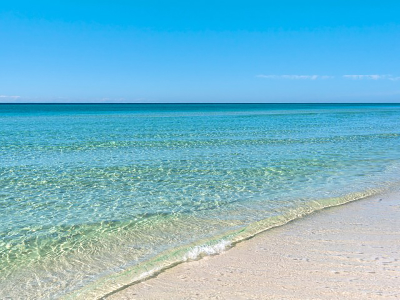 Take a dip in the crystal clear waters of the Gulf at  San Remo Santa Rosa Beach Florida