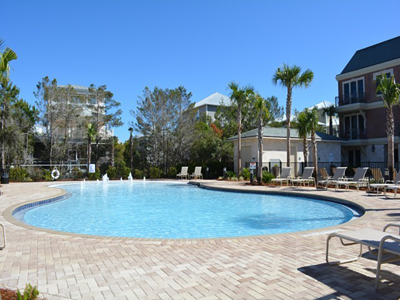 Spend you day at the pool at Villages of South Walton Rentals in Highway 30-A Florida