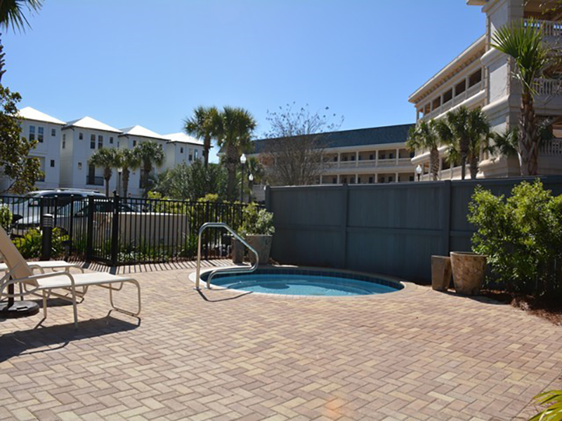 Relax in the great hot tub at Villages of South Walton Rentals in Highway 30-A Florida