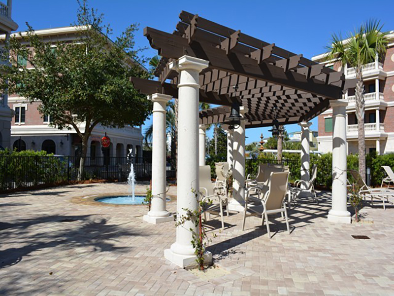 Take a relaxing tour of the tropical grounds at Villages of South Walton Rentals in Highway 30-A Florida