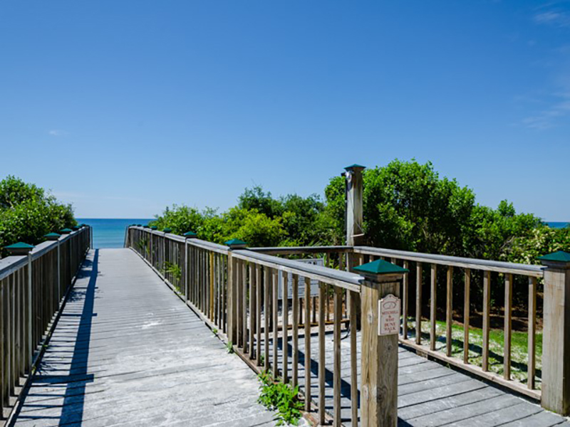 Its an easy trip to the sand and surf at Villages of South Walton Rentals in Highway 30-A Florida