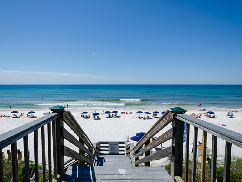 Amazing azure blue waters steps from your door at Villages of South Walton Rentals in Highway 30-A Florida