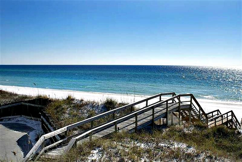 Beach walkway at Walton Dunes in Seagrove Beach FL