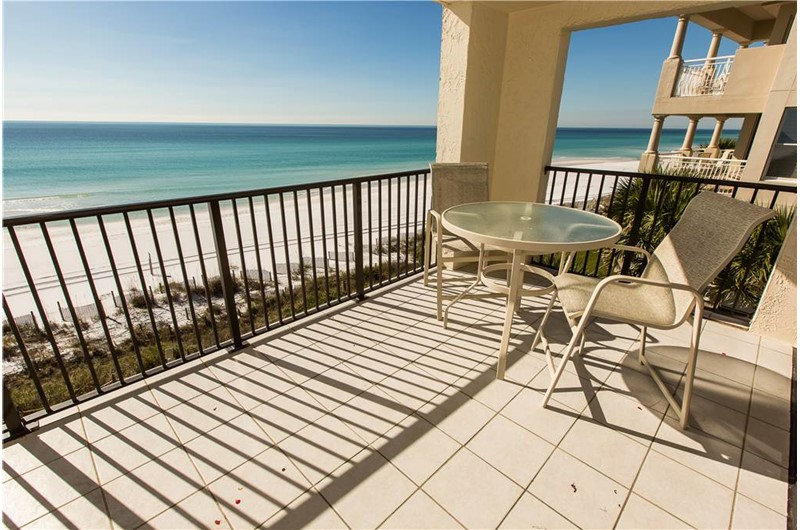 A lovely view from roomy balcony at Huntington by the Sea in Destin FL