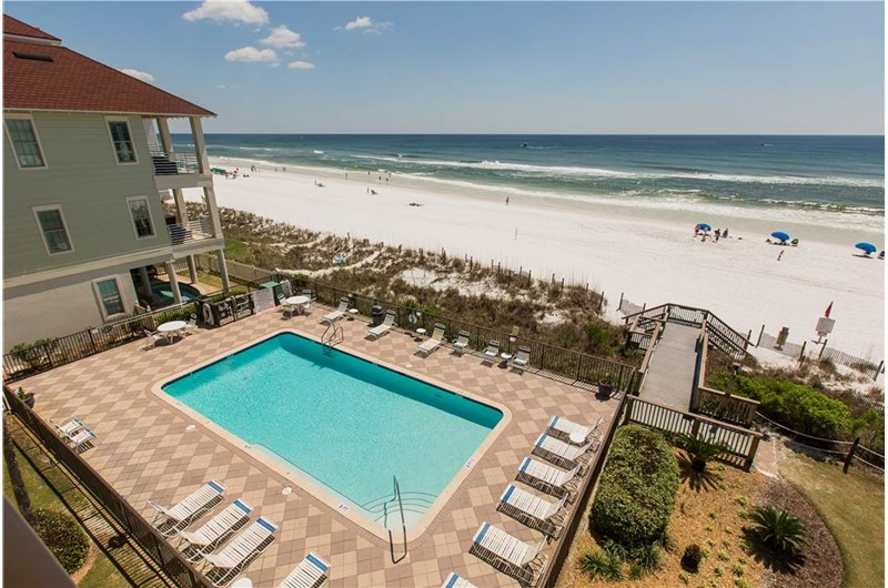 Enjoy the lovely pool at Huntington by the Sea in Destin Florida