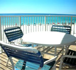 Patio or balcony at Inlet Reef Club Condominiums in Destin Florida