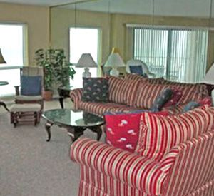 Large family room at Inlet Reef Club Condominiums in Destin Florida
