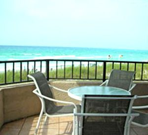 Large patio at Inlet Reef Club Condominiums in Destin Florida