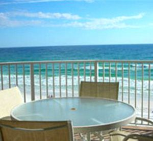 Patio at Inlet Reef Club Condominiums in Destin Florida