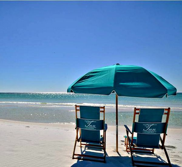 Beach services available at the Inn at Crystal Beach in Destin Florida