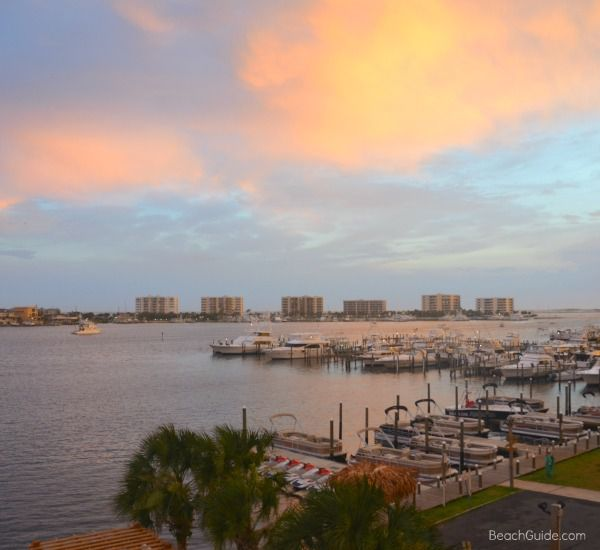 The sunset at the Inn on Destin Harbor  in Destin Florida