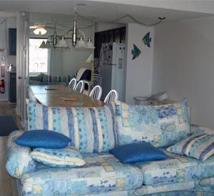 One of the dens at Isla Blanca Townhomes in Destin Florida