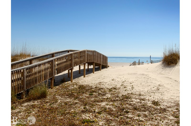 Convenient beach walkover at Island Royale in Gulf Shores AL