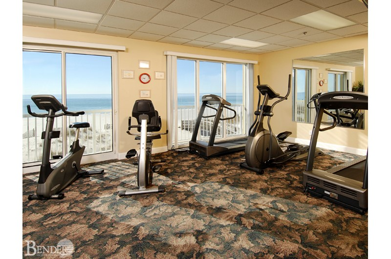 Nice workout room at Island Royale in Gulf Shores AL