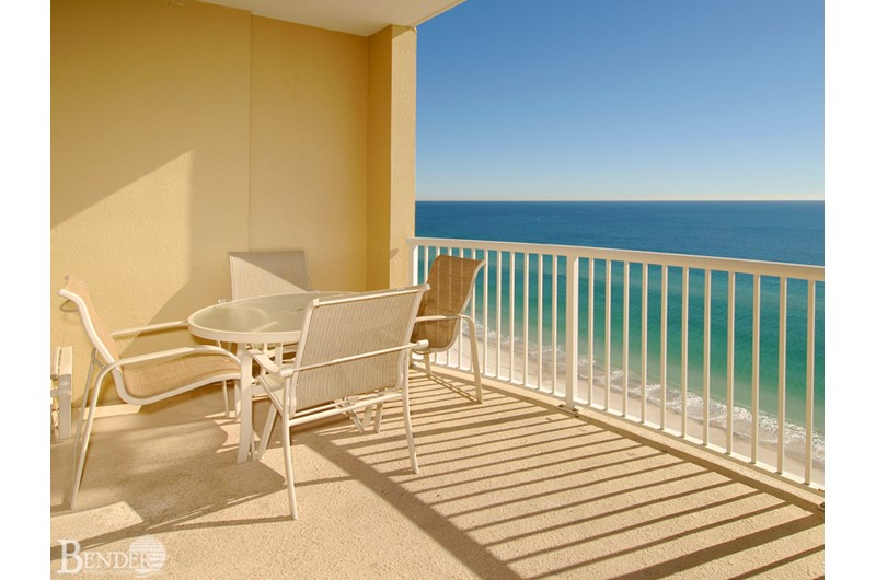 Spacious balcony at Island Royale in Gulf Shores AL