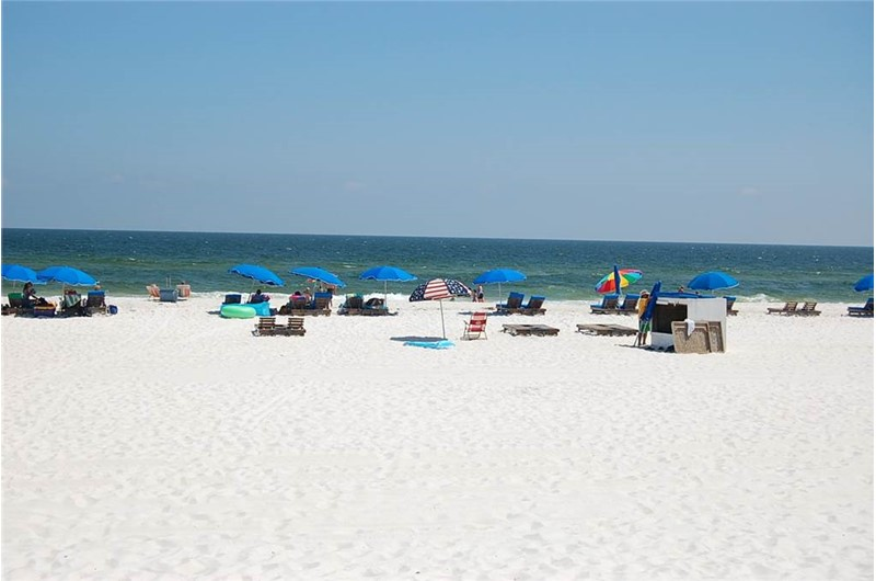 Stunning beach view from Island Winds East and West in Gulf Shores AL