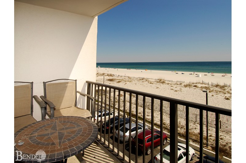 Lovely Gulf view from Island Winds West in Gulf Shores AL