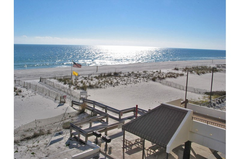 An amazing beach view from Island Winds West in Gulf Shores AL