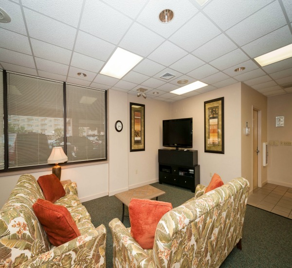 Meeting Room with TV at Jetty East in Destin Florida