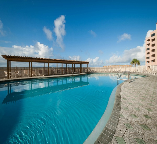 Beachfront pool at Jetty East Condominiums in Destin Florida