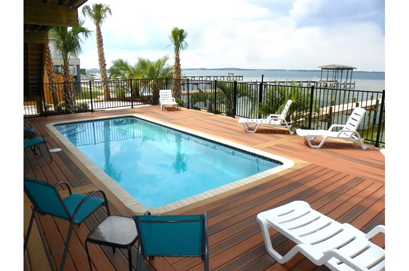 Soundfront vacation home with private pool in Pensacola Beach Florida