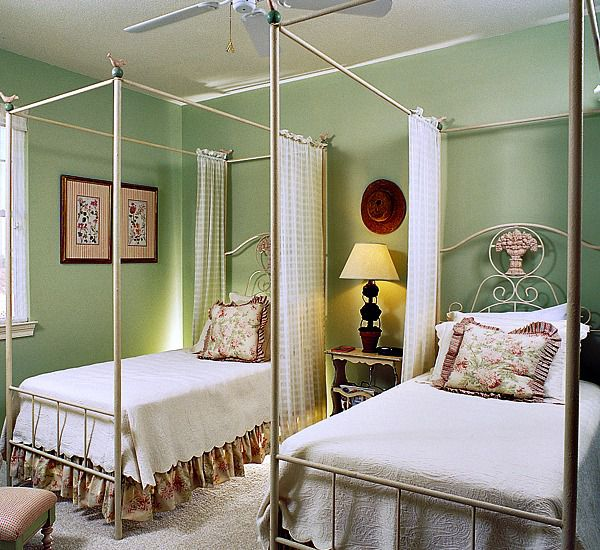 Guest bedroom with double beds at Martinique on the Gulf in Gulf Shores Alabama