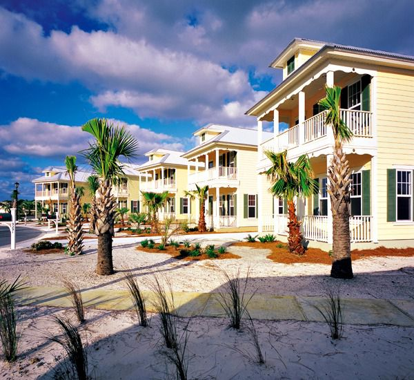 View of beach houses at Martinique on the Gulf in Gulf Shores Alabama