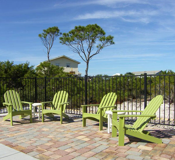 Lounge chairs in Mexico Beach Florida