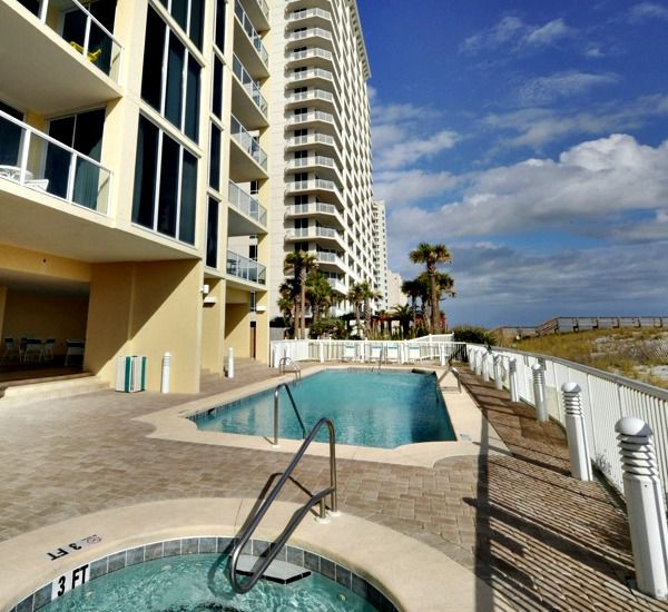 Lovely pool area at Caribbean Resort Condominiums  in Navarre Florida