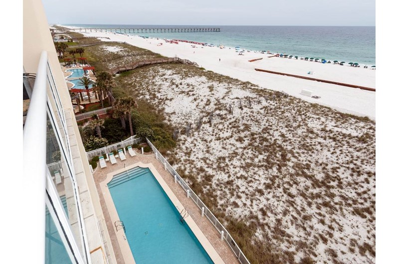 View the pool from Caribbean Resort in Navarre Florida