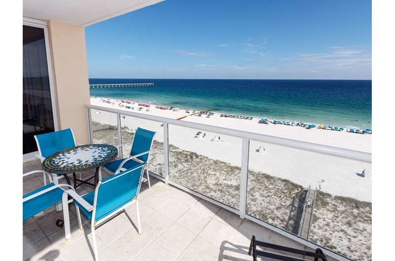 great view of the Gulf from Caribbean Resort in Navarre Florida
