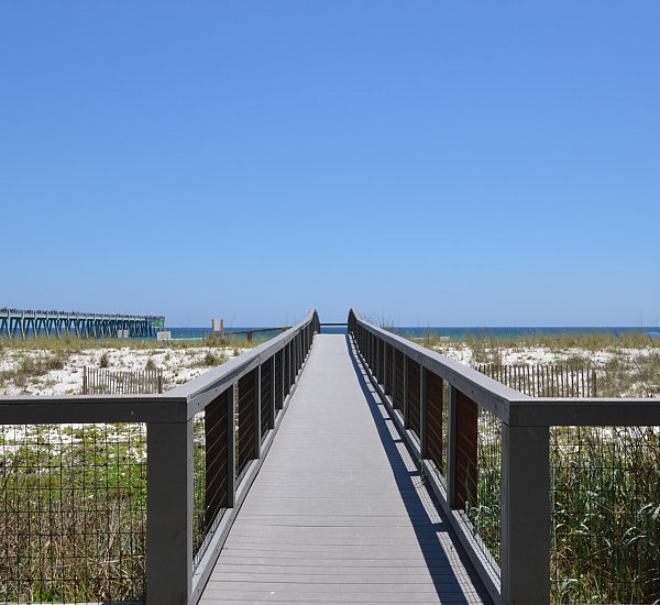 Boardwalk beach access at Summerwinds Resorts in Navarre Florida